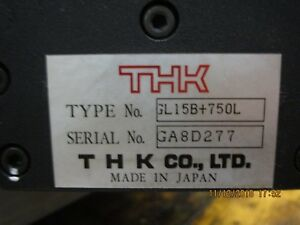 Gl15b 750l Thk Thk Linear Slide Actuator Timing Belt Drive Used
