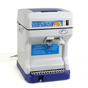 Commercial Electric Ice Shaver Crusher Device Snow Cone Maker Shaving Machine
