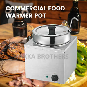 Hakka Commercial Countertop Food Warmer Buffet Soup Pot 3 5l