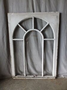 Antique Palladian Window Dome 7 Lite Arch Top Cabinet Shabby Chic 40x29 66 17p