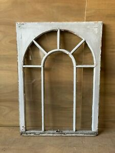 Antique Palladian Window Dome 7 Lite Arch Top Cabinet Shabby Chic 40x29 67 17p