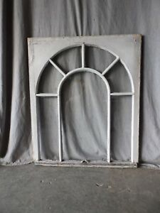 Antique Palladian Window Dome 7 Lite Arch Top Cabinet Shabby Chic 40x34 69 17p