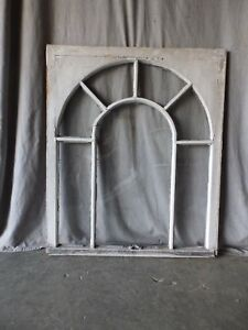 Antique Palladian Window Dome 7 Lite Arch Top Cabinet Shabby Chic 40x34 70 17p