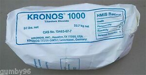 Titanium Dioxide 50 Lb Pound Bag Lab Chemical Tio2 Ceramic Glaze Colorant 99
