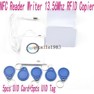 Acr122u Nfc Reader writer 13 56mhz Rfid Copier Duplicator 5pcs Uid Cards tags