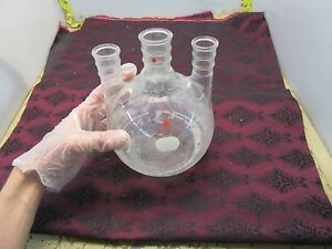 Ace Glass 2000ml 3 Neck Round Bottom Flask 24 40 29 42 2 l 48 5