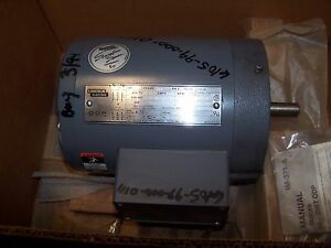 New Lincoln 1 5 Hp Ac Electric Motor 56hc Frame 208 230 460 Vac 1740 Rpm Odp