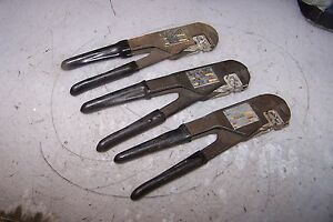 3 Clark Cable Ms25037 1a Ratcheting Electrical Crimp Tool Lot Of 3