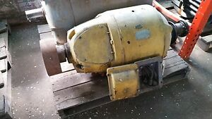 20 Hp West Crane Motor 1160 Rpm 460 V Fr 404 Tenvbb Double Shaft Used