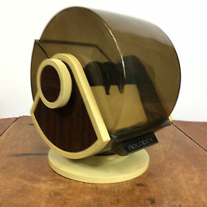Vtg Rolodex Telephone Address Business Card Directory Office Mid Century Space