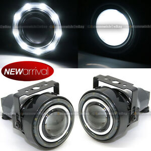 For F 150 3 Round Projector Fog Lamps W 9 White Led Halo Light Set