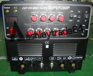 Super200p 220v Inverter Welder Ac Dc Aluminium Pulse Tig Mma Cut Welding Machine