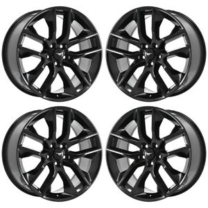20 Ford Mustang Gt Black Wheels Rims Factory Oem 2016 2017 2018 Set 4 10039