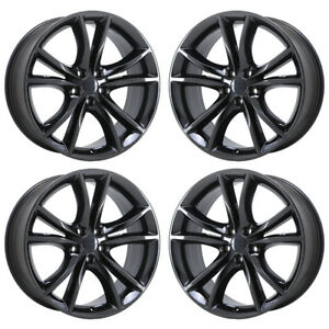 20 Dodge Charger Rt Black Chrome Wheels Rims Factory Oem Set 4 2545 Exchange