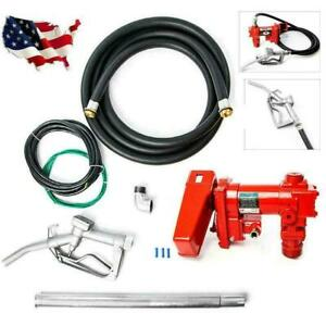 12 Volt 20 Gpm Fuel Transfer Pump Diesel Gas Gasoline Kerosene Car Tractor New