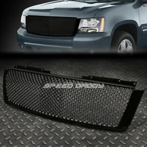For 07 14 Tahoe Avalanche Suburban Black Diamond Mesh Front Bumper Grille Grill