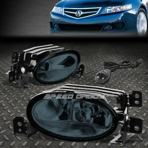 For 06 08 Acura Tsx Smoked Lens Front Bumper Driving Fog Light Lamps W switch