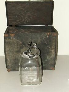 Antique 19th C Victorian Embalming Mortician Undertaker Blood Bottle Tube W Case