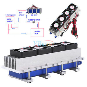 Quad core Thermoelectric Peltier Air Cooling Device Cooler 4 tec1 12706 12v 288w