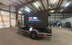 Led Billboard Trailer P8 With Hydraulic Lift Super Bright