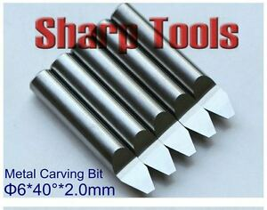 5pcs lot 6mm 40degree 2 0mm V Pcb Metal Carving Cnc Router Bits