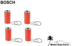 Mercedes W124 500e W140 Set Of 4 Oil Filter Kits Bosch Oem 72 196 Ws