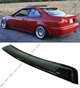 For 1992 95 Honda Civic 2dr Coupe Blk Smoke Rear Roof Window Visor Wing Spoiler