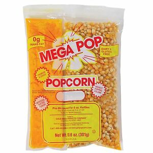Mega pop Popcorn Kit 8 Oz 24 Pack