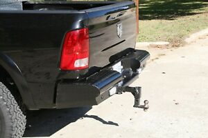 Fab Fours Black Steel Ranch Rear Bumper Fits 2003 2009 Dodge Ram 2500 3500