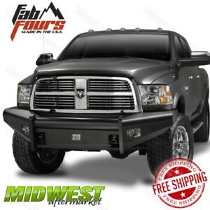 Fab Fours Black Steel Elite Base Bumper Fits 2006 2009 Dodge Ram 2500 3500