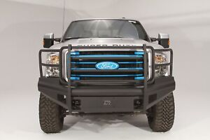 Fab Fours Black Steel Elite Full Guard Bumper Fits 1999 2004 Ford F250 F350 Sd