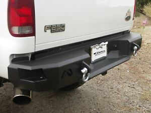 Fab Fours Direct Fit Black Premium Rear Bumper Fits 1999 2016 Ford F250 F350 Sd