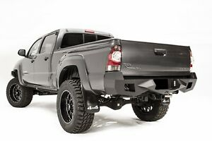 Fab Fours Black Vengeance Rear Bumper Fits 2005 2015 Toyota Tacoma