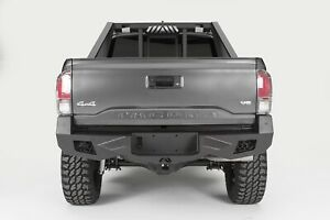 Fab Fours Black Vengeance Rear Bumper Fits 2016 2017 Toyota Tacoma