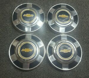 Set Of 4 Oem 1973 1987 Chevy Gmc 3 4 1 Ton Pickup Truck Van 12 Dog Dish Hubcaps