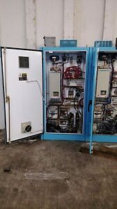 Siemens Dc Drive 6ra2425 2fv62 With Enclosure Relays Disconnect Fuses