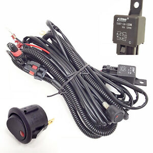 Wiring Harness 9006 12v 30a Fog Light Relay Kit On Off Switch 2 Plugs Wire 10 Ft