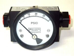 Precision Instruments 200dpg2 54n1ssfvo Differential Pressure Gauge 1 4
