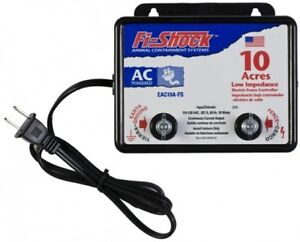 Electric Fence Charger Energizer Controller 10 Acre Horse Deer Goat Cow Fi Shock