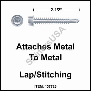 1000 10 X 2 1 2 Self Drilling Tek 3 Hex Washer Head Zinc Siding Screw 137726