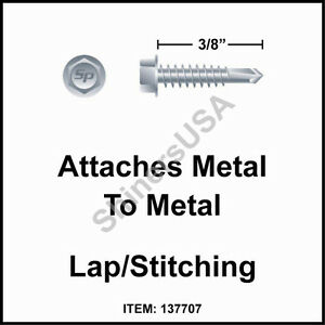 20000 6 X 3 8 Self Drilling Tek 2 Hex Washer Head Zinc Siding Screw 137707