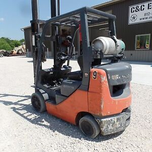 2013 Toyota 8fgcu25 5 000lb Warehouse Industrial Forklift Lift Truck S s 189