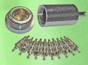 Acces Valve Core Remover Installer 10 Replacement Cores For Ac Refrigeration