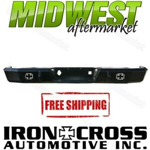 Iron Cross Hd Matte Black Rear Bumper Fits 2003 2006 Chevy Silverado 2500 3500