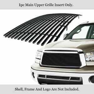 Fits 2010 2013 Toyota Tundra Main Upper Stainless Black Billet Grille Insert