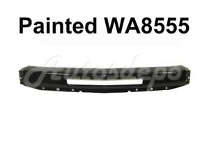 Painted Black Wa8555 Front Bumper Impact Bar W air Hole For 07 13 Silverado 1500