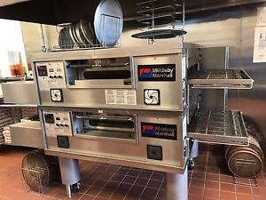 Middleby Marshall Ps 550 Doublestack Gas Conveyor Pizza Ovens Warranty Avail