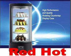 Omcan 39552 18 Rotating Countertop Refrigerated Display Case Rs cn 0072 r