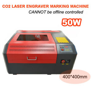 Co2 Laser Engraver 50w Cutting Logo Marking Engraving Machine 400 400mm Desktop
