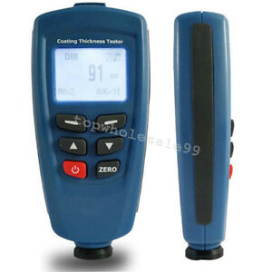 Digital Paint Coating Thickness Tester Meter Gauge Magnetic Induction Fast Ship